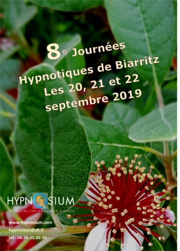 JHB, les Journées hypnotiques de Biarritz 18, 19 et 20 septembre 2020